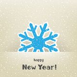 Christmas card and snow. Flake on the light winter background Stock Photography