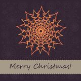 Christmas card with snowflake Royalty Free Stock Image