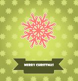 Christmas card with snowflake Royalty Free Stock Images