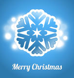 Christmas card with snowflake Stock Image