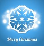 Christmas card with snowflake Stock Image