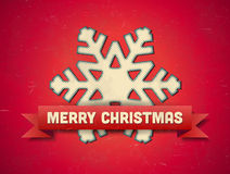 Christmas card with snowflake Royalty Free Stock Photo