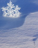 Christmas Card with Snowflake - Stock Photo Royalty Free Stock Images
