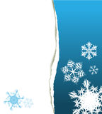 Christmas card with snowflakes. Christmas card - snowflakes and place for your text Royalty Free Stock Images