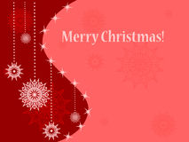 Christmas card with snowflakes Royalty Free Stock Photography