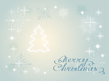 Christmas card with snowflakes. Illustration of Christmas background with snowflakes Stock Photo