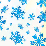 Christmas card with  snowflakes Stock Photography