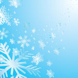 Christmas card with  snowflakes Stock Images