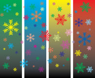 Christmas card with  snowflakes Royalty Free Stock Images
