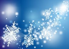 Christmas card with  snowflakes Royalty Free Stock Image