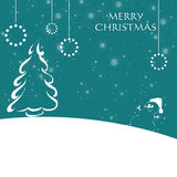 Christmas card with snowflakes royalty free stock photos