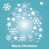 Christmas card with snowflakes Stock Photo
