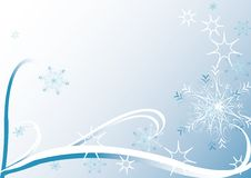 Christmas card with snowflakes. Computer generated  christmas card with snowflakes Royalty Free Stock Photo