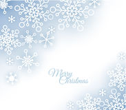 Christmas card with snowflakes on the background Stock Photos