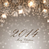 Christmas card with snowflakes. Christmas background for your design royalty free illustration