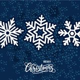 Christmas card with hand-drawn lettering royalty free illustration