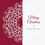 Christmas card with snowflakes Stock Photos