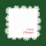 Christmas Card With Snowflakes. Paper. Vector Illustration Royalty Free Stock Image
