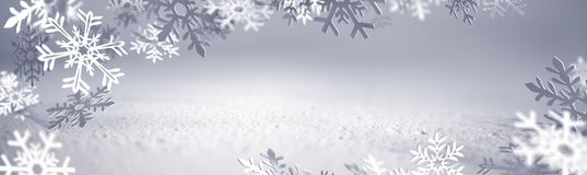 Christmas Card - Snowflakes Of Paper Royalty Free Stock Photos