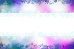 Beautiful christmas background with snowflakes and place for text stock images