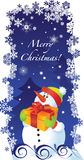 Christmas card with snowman. Vector Christmas card with snowman Royalty Free Stock Image