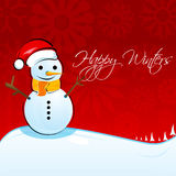Christmas card with snowman. Illustration of christmas card with snowman Stock Image