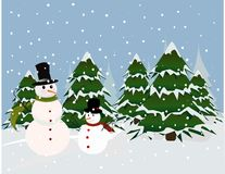 Christmas card, snowman Royalty Free Stock Photography