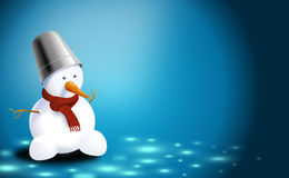 Christmas-card of snowman Stock Photo