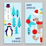 Christmas card with snowman Royalty Free Stock Photos