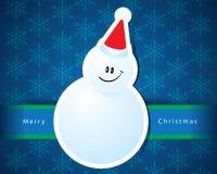 Christmas card with snowman vector Royalty Free Stock Photos