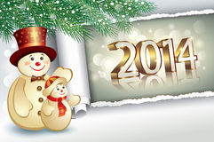 Christmas card 2014 Royalty Free Stock Photos