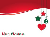 Christmas card. With space text Royalty Free Stock Photos