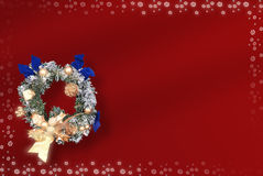 Christmas card with space for wishes Stock Images