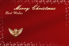 Christmas card with space for wishes Royalty Free Stock Photo