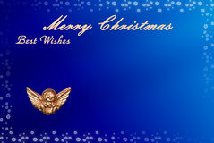 Christmas card with space for wishes Royalty Free Stock Images
