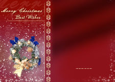 Christmas card with space for wishes. Best wishes Stock Image