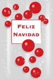 Christmas Card - Spanish stock image