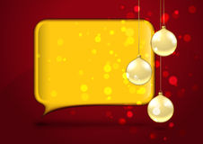 Christmas card with speech bubble Royalty Free Stock Photos