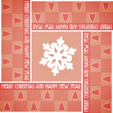 Christmas card with squares Royalty Free Stock Photos