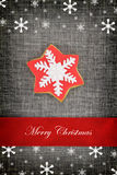 Christmas card with star cookie Royalty Free Stock Photos