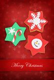 Christmas card with star cookies Stock Photography
