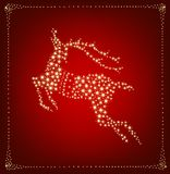 Christmas card with star deer. Vector illustration Royalty Free Stock Image