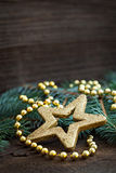 Christmas card with star shape Royalty Free Stock Photo