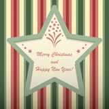 Christmas card with star shaped frame. Stock Photography