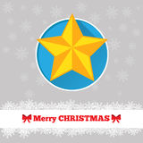 Christmas card star template. Christmas card template with star in the circle Royalty Free Stock Images