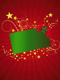 Christmas card with stars. Vector illustration of Christmas card with stars Stock Photo