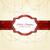 Christmas card with stars Royalty Free Stock Photo