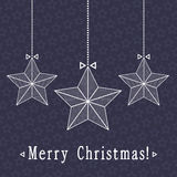 vector Christmas card with stars Stock Photography