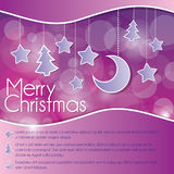Christmas card with stars and moon Royalty Free Stock Photos