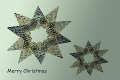 Christmas card with stars Royalty Free Stock Photos